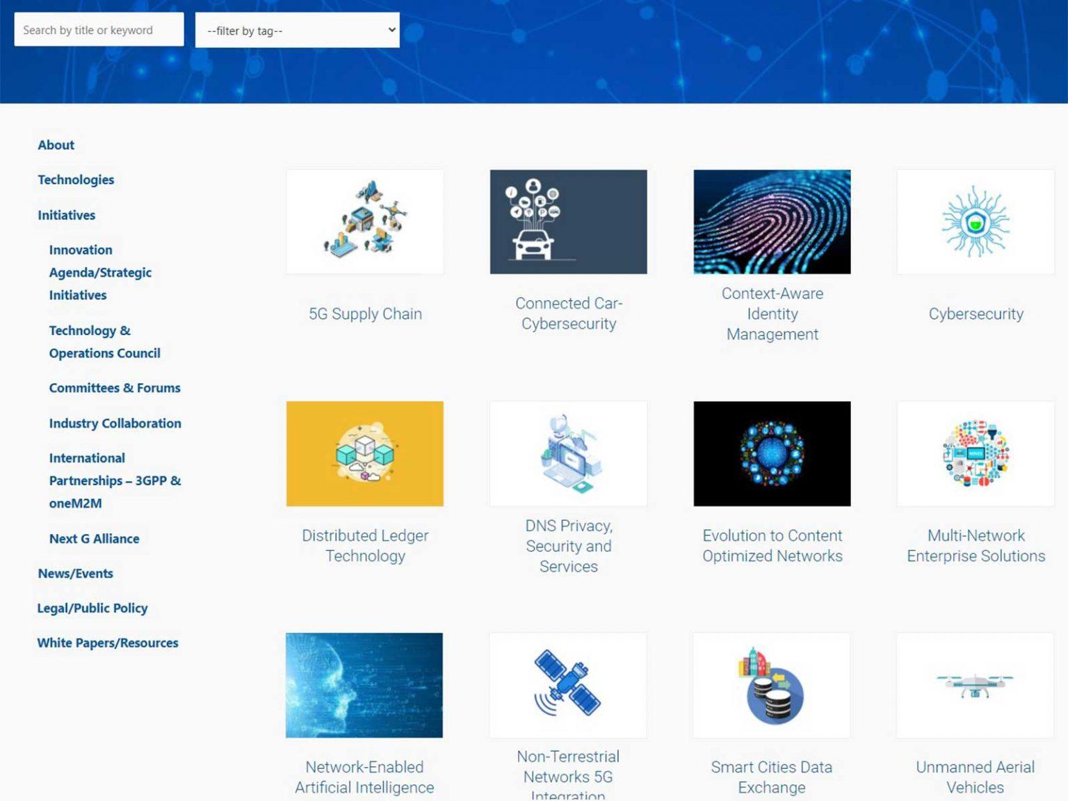 Innovation Agenda / Strategic Initiatives page