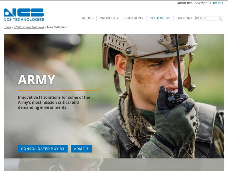 page for Army customers
